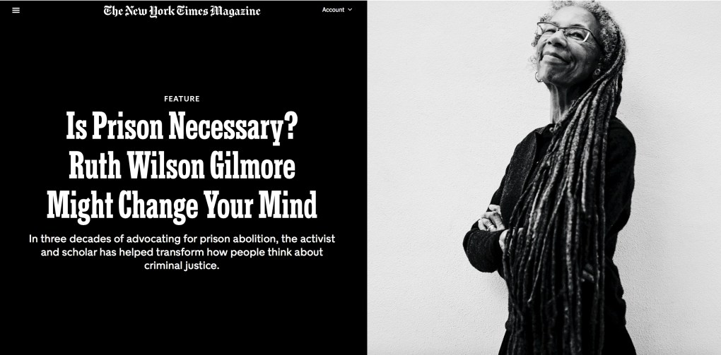 Ruthie Gilmore NY Times