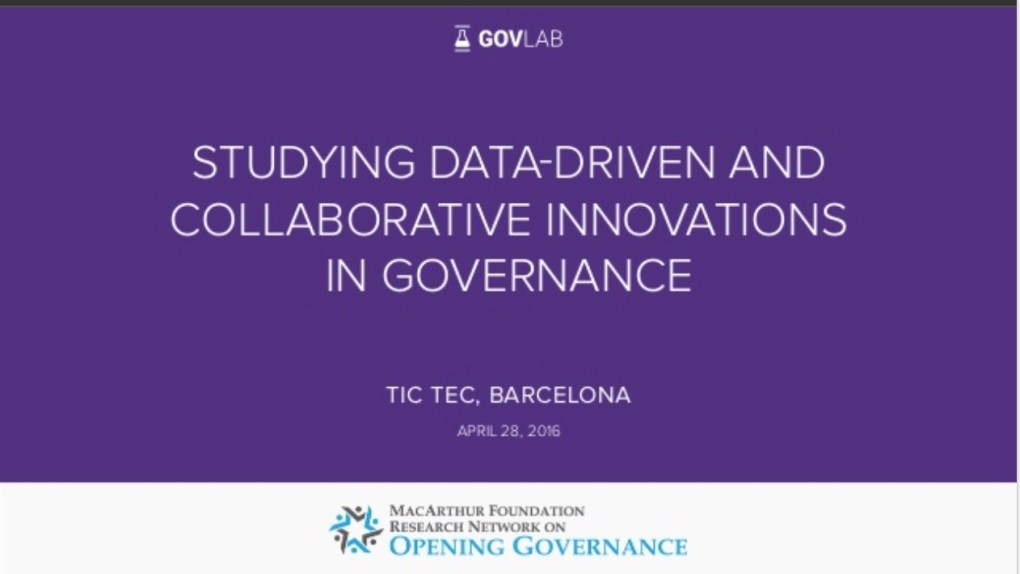 Research Network On Opening Governance