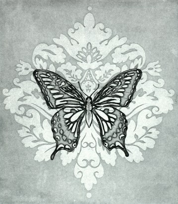 Insect Collection: Swallowtail Coat (steel plate intaglio, 2010)