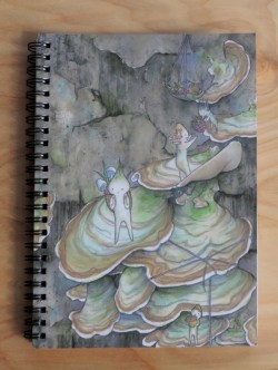 """""""Foraging"""" notebook, front."""