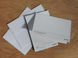 Greeting cards, back