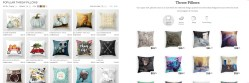 Browsing throw pillows. Left: S6, right: RB