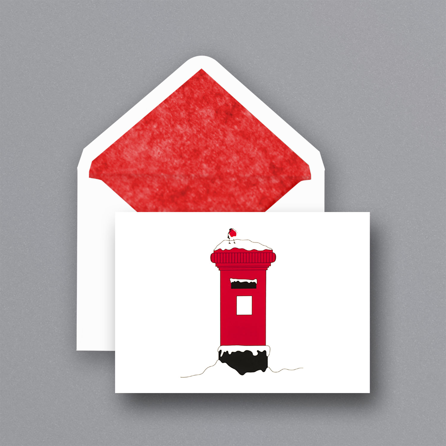 Christmas Post Box A6 Pack Of 6 The Wren Press