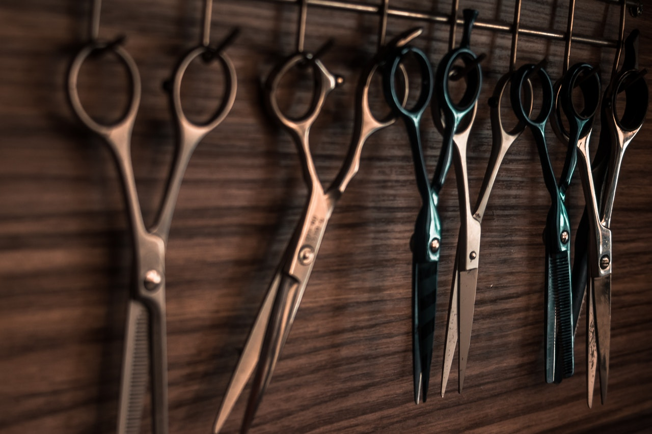 scissors on the wall