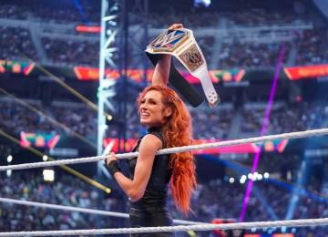 Becky Lynch em seu retorno no SummerSlam