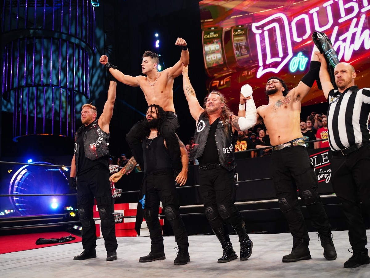 Inner Circle celebrates their win at AEW Double or Nothing 2021