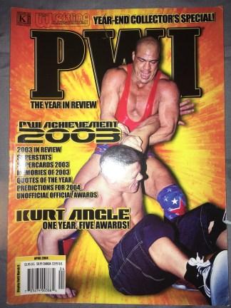 Pro Wrestling Illustrated April 2004 Kurt Angle