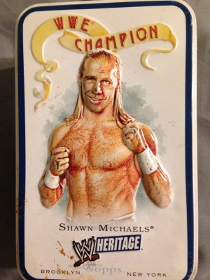 Shawn Michaels 2007 Topps Heritage 3-D Collectors Tin