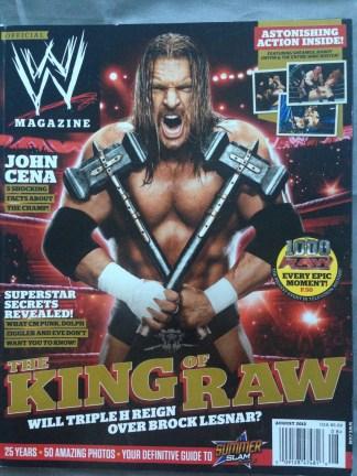 WWE Magazine August 2012 - Triple H
