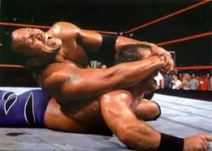 Benoit gets a taste of the Crossface!