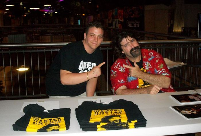 Austin and Mick Foley