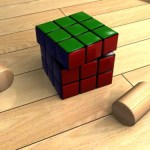 3D材質練習-地板 樹葉 磚牆