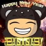 減碳雙熊MSN大頭貼-2009 Happy New Year!!