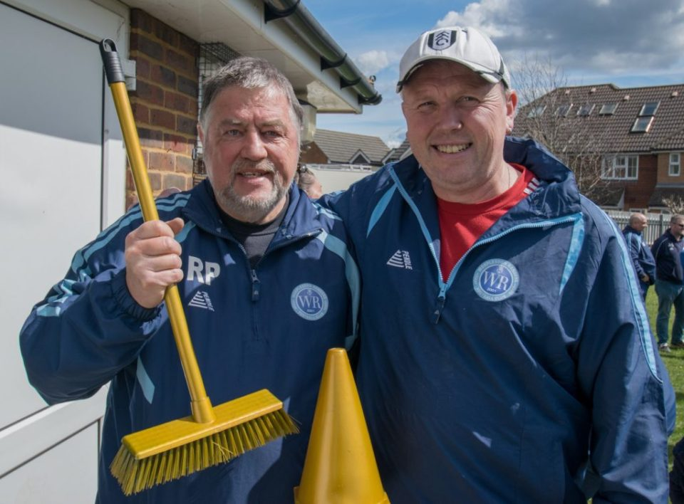 Rupert Receives the Golden Broom Award From Deputy Chairman Brian Slyfield