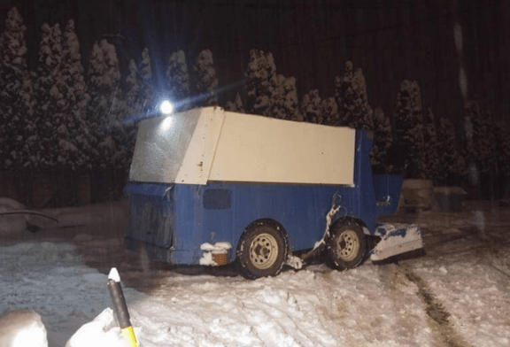 A Canadian Guy Is Pulled Over For Trying to Clear a Snowy Road in a Zamboni