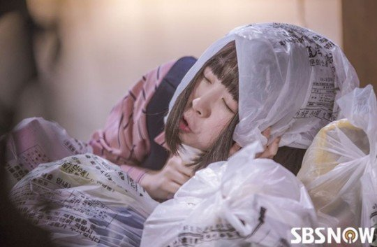 Gong Shim, who plays hide and seek (in the garbage) when drunk...