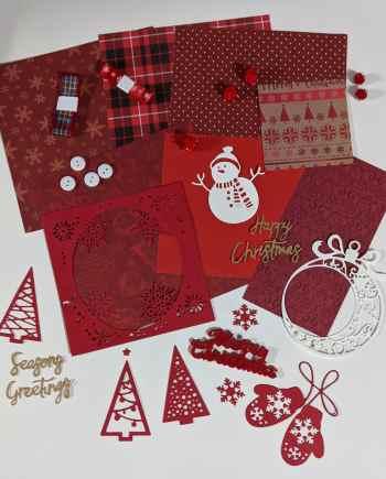 6x6 Christmas Red Scrapbook Kit