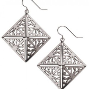 Wrought Iron Acanthus Leaf Earrings