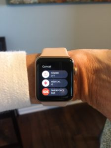 using the Apple Watch SOS or Medical ID feature