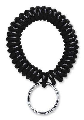 Black Wrist Coil Key chains