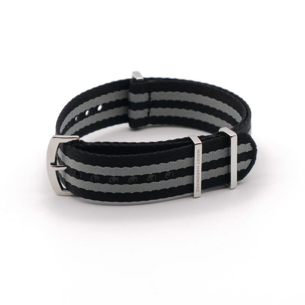Black-Gray-Bond-wrist-hardware-military-nylon-strap-polyamide-fabric-replacement-band