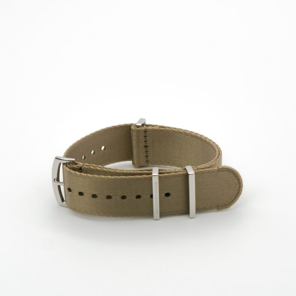 Khaki-Loops-solid-steel-wrist-hardware-nylon-watch-strap-military-polyamide-fabric-replacement-band