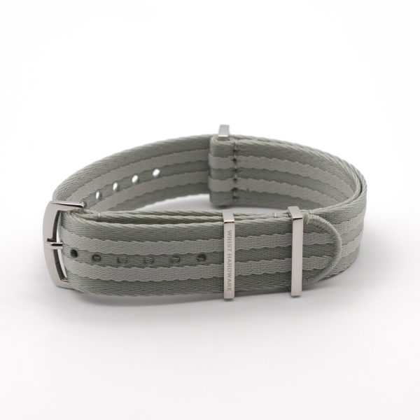 Rally-Stripes-Loops-solid-steel-wrist-hardware-nylon-watch-strap-military-polyamide-fabric-replacement-band
