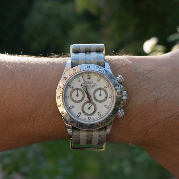 Rally-stripes-daytona-wristhardware-nylon-watch-strap-polyamide-fabricreplacement-band-military-316L-stainless-steel-
