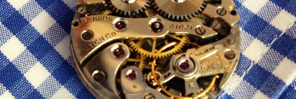 Richard King about his handcrafted cufflinks made from vintage watch movements