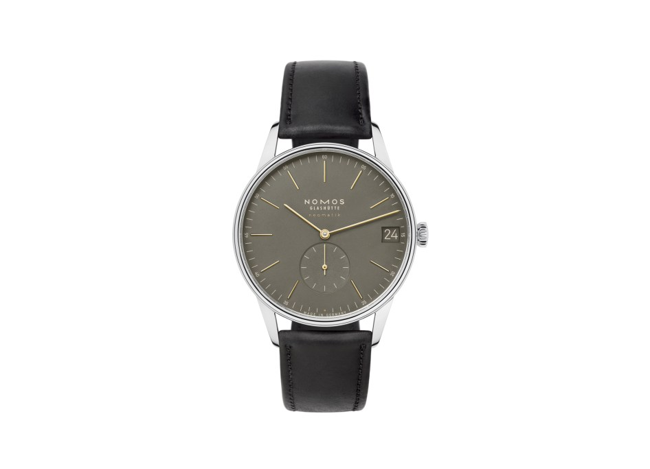 Orion neomatik 41 date olive gold with strap (ref. 364)
