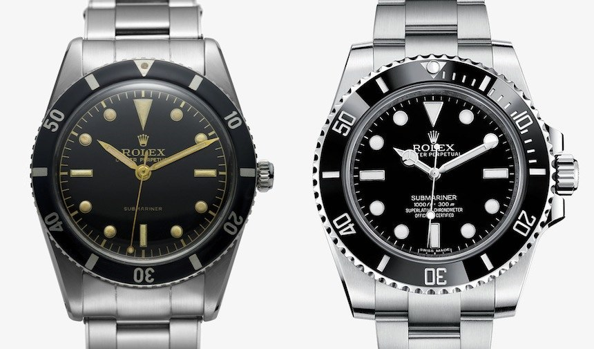 Rolex-Submariner-Old-New-Comparison-1957-2014