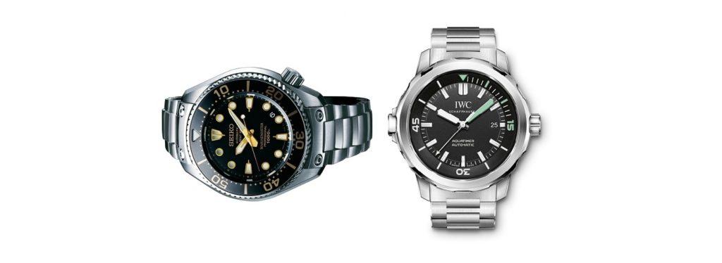 Clash of The Divers: Seiko Prospex Marinermaster SBEX001G Watch vs IWC Aquatimer IW329002 Watch