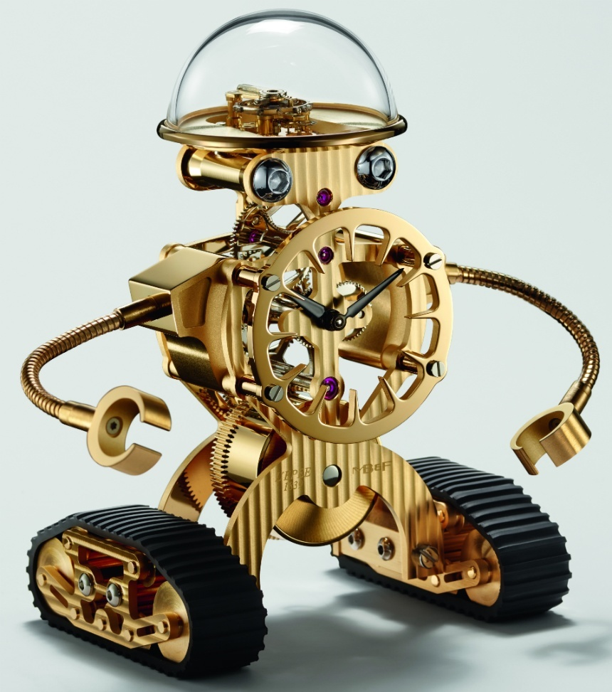 MBF-Sherman-Happy-Robot-Limited-Edition-Clock-gold