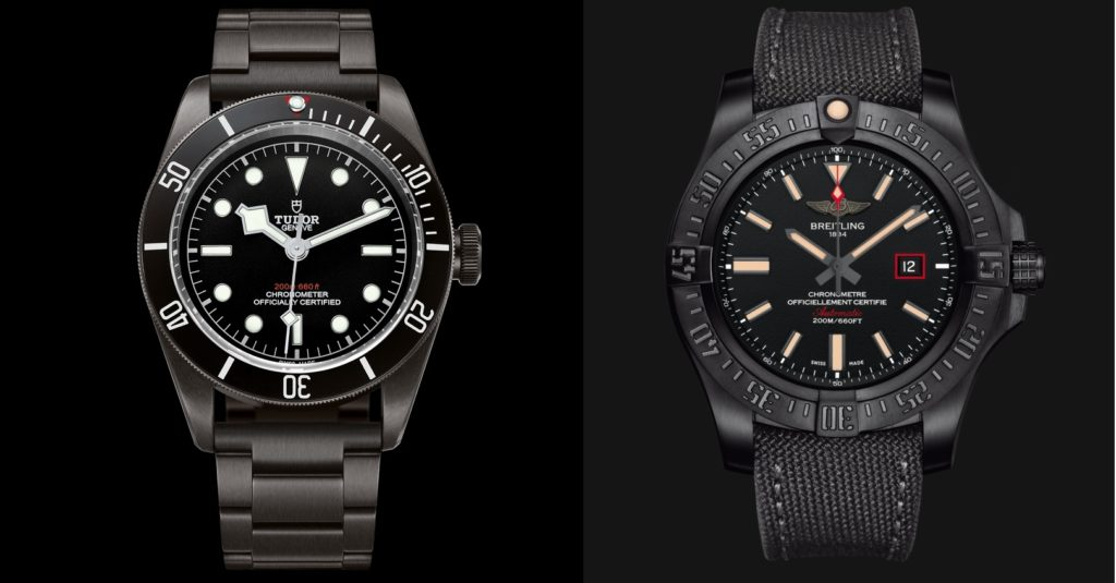 Clash of the Divers Black Edition: Breitling Avenger Blackbird 44mm Watch vs Tudor Heritage Black Bay Dark Watch