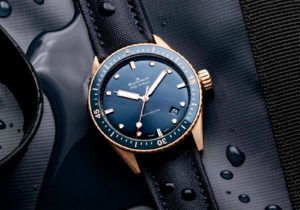 Introducing The Blancpain Fifty Fathoms Bathyscaphe Blue Sedna Gold Watch