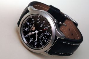 A Typical Seiko 5 watch