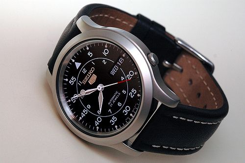 A Typical Seiko 5 watch