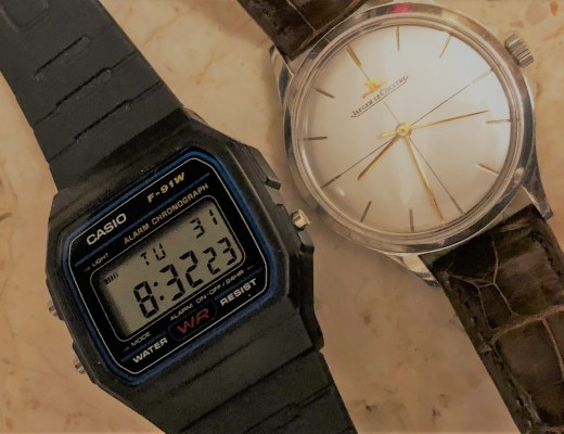 digital and analogue watches
