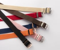 One Piece Braided Perlon Straps (7 colours available)