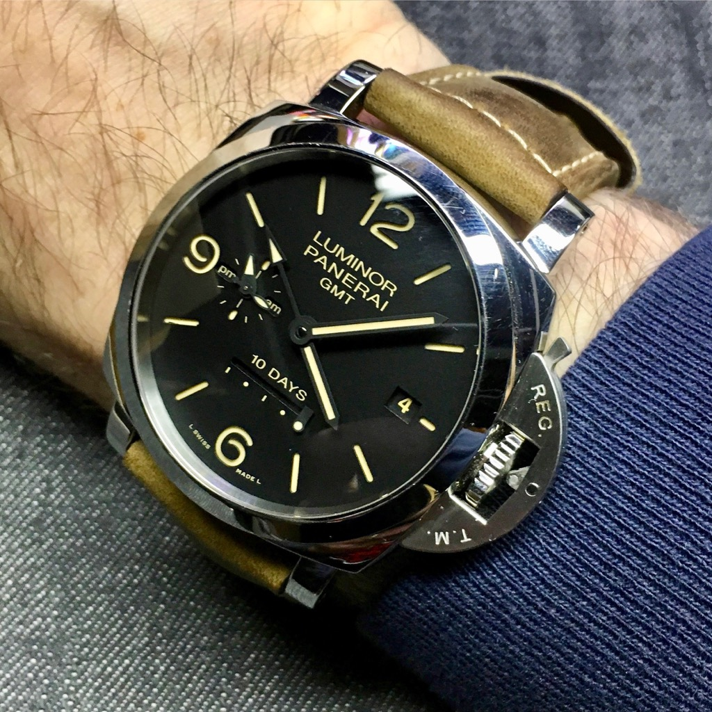 moving on up with the panerai luminor 1950 10 days gmt automatic