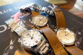 Our collection of Longines watches at the Breeders Cup.