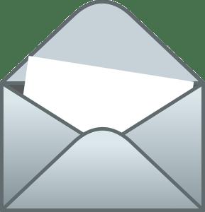 Image, letter in open envelope.