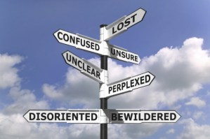 Image, signpost directing people to emotions.