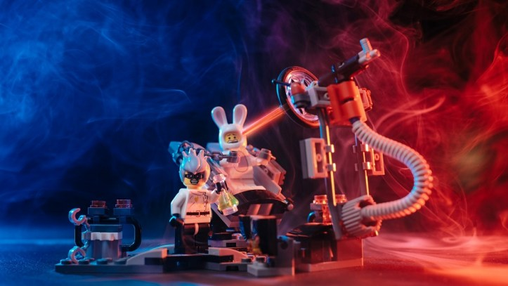 Image, Mad science with Lego characters.
