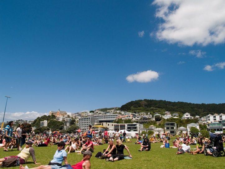 Image, Waitangi Park, Wellington, on a sunny day.