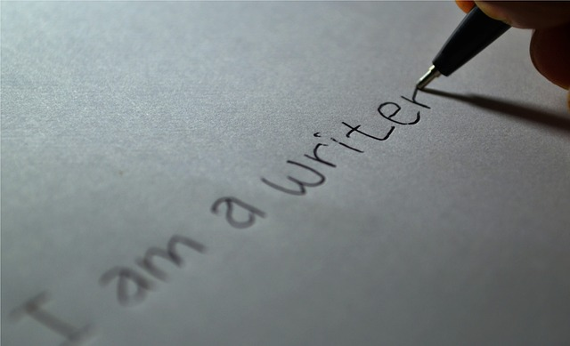 Image, Hand writing 'I am a writer'.