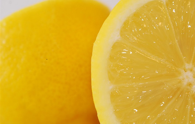Image, close up of lemons.