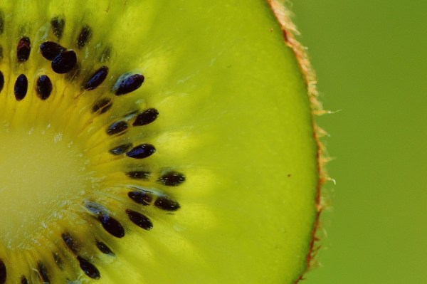 Image, close-up of a kiwifruit.