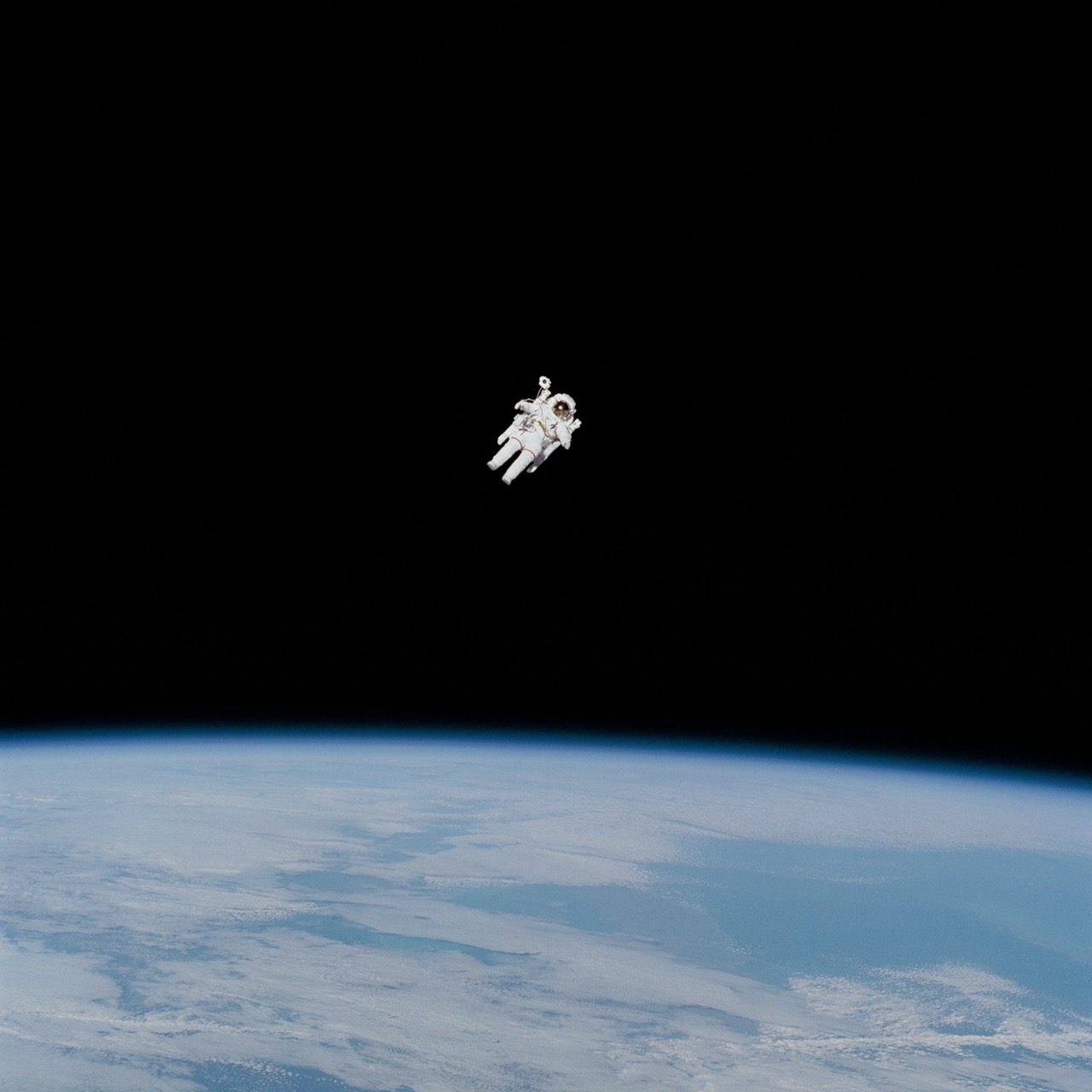 Image, Astronaut floating above space.