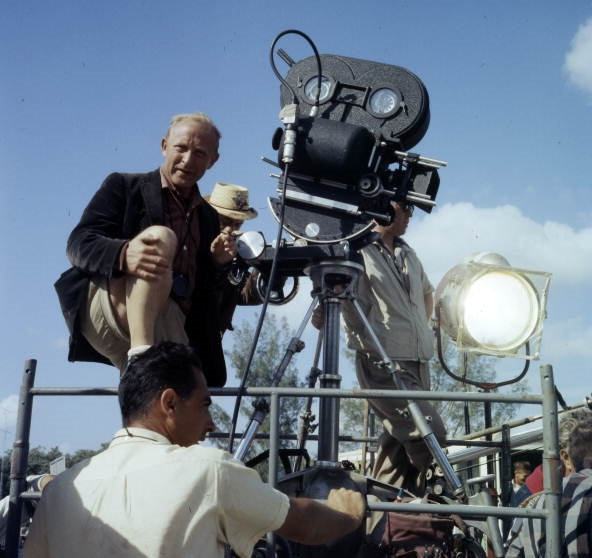 Image, camera crew on set.